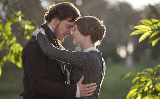 Michael Fassbender as Mr Rochester and Mia Wasikowska as Jane Eyre in the 2011 Hollywood movie 'Jane Eyre'.