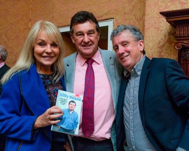 Billy Keane with Jackie Lavin and Bill Cullen at the book launch. Photo: Arthur Carron