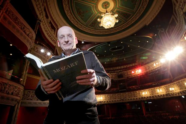 Roddy Doyle before the world premiere of Opera Theatre Company's production of Mozart's 'Don Giovanni', which was translated by Doyle