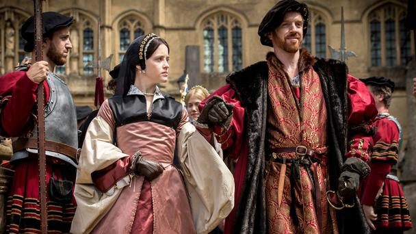 Claire Foy and Damian Lewis as Ann Boleyn and Henry VIII in 'Wolf Hall'