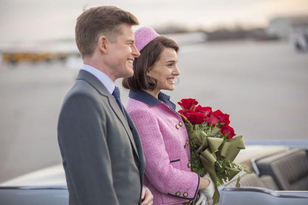 Natalie Portman and Caspar Philipson as Jackie and JFK