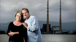 Family man: Paddy Armstrong with his wife Caroline. Photo: David Conachy