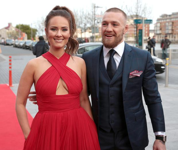 Conor on the red carpet with his partner Dee Devlin