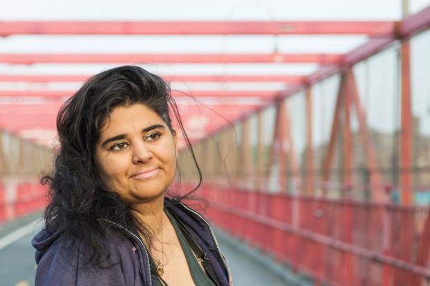 New voice: Jade Sharma blazed a trail through New York's slam poetry scene. Photo: Tracie Williams