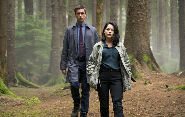 Squad goals: Killian Scott and Sarah Greene filming the Dublin Murders