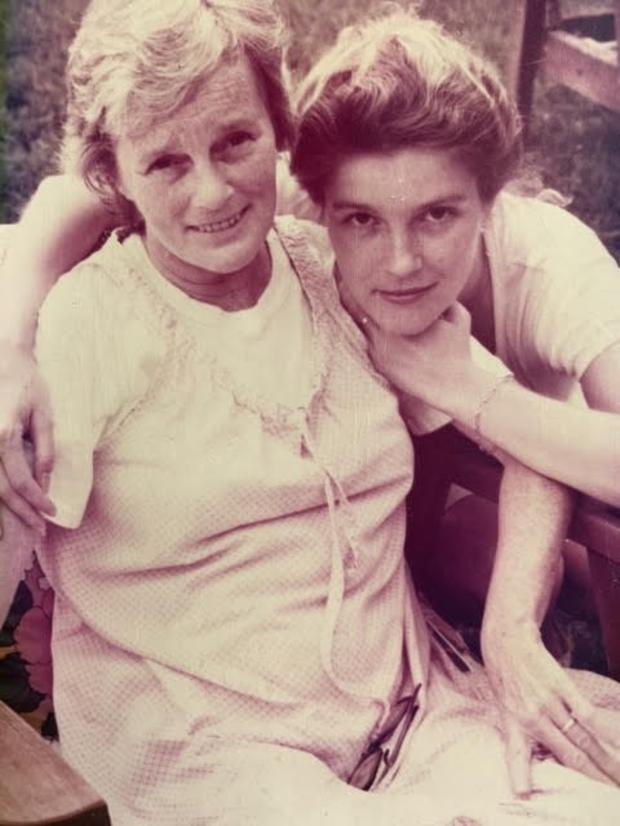 Kate with her mother, Joan, in Dubuque in 1982