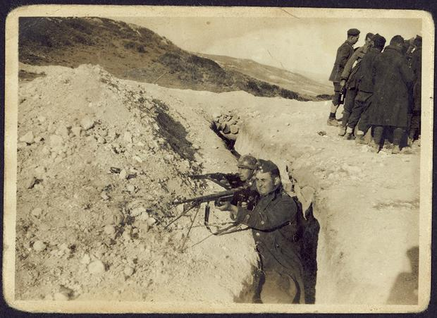 Irish Brigade volunteers training in the trenches at Ciempozuelos during the spring of 1937. Courtesy of Special Collections and Archives, Glucksman Library. (C) University of Limerick