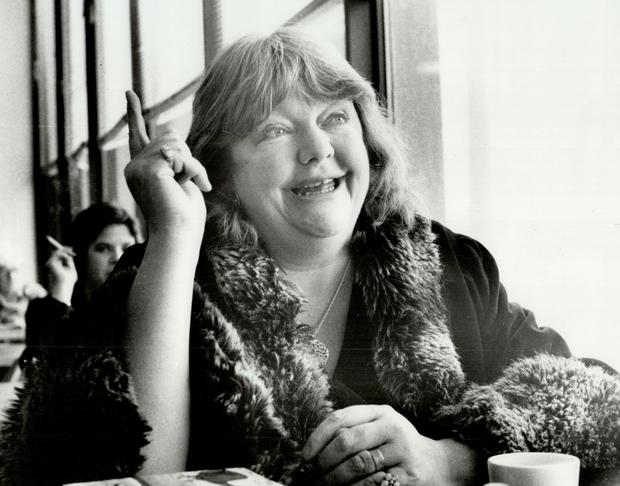 Helpful advice: Maeve Binchy in Canada on a promotional tour in 1986