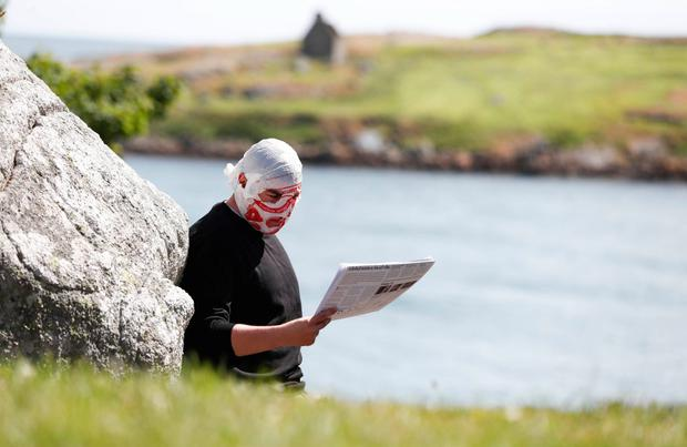 Modern soothsayer: Blindboy Boatclub in Dillon's Park, Dalkey. Photo by Conor McCabe