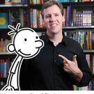 Comic genius: Jeff Kinney with Greg Heffley, the star of his incredibly successful series of kids' books