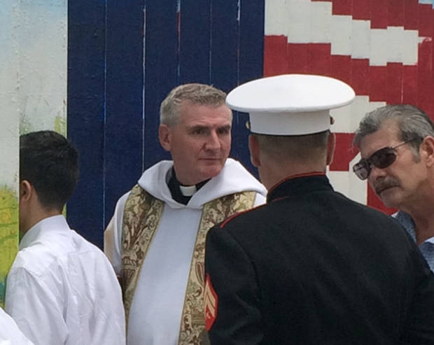 Father Dermot Rogers from Belfast, who performed the ceremony