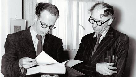 Anthony Cronin and Patrick Kavanagh on the first Bloomsday in 1954. Photo: National Library of Ireland