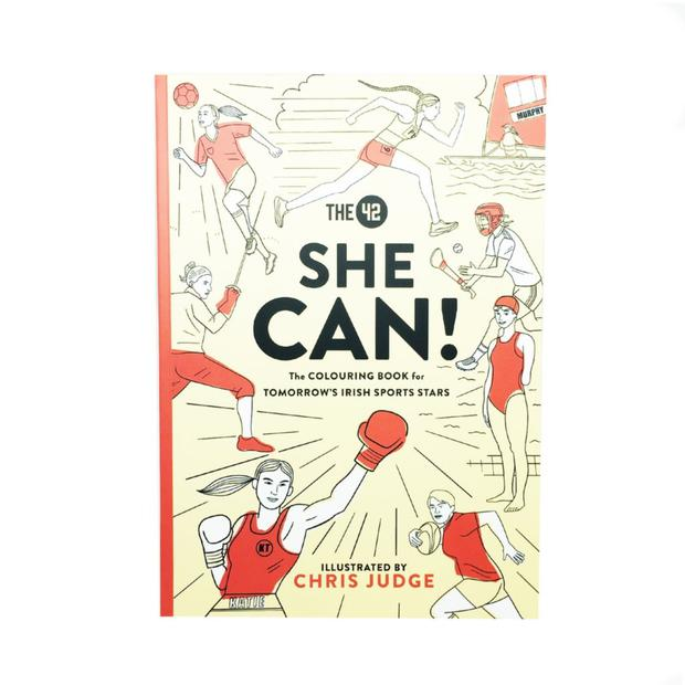 She Can: The Colouring Book for Tomorrow's Irish Sports Stars by The 42, illustrated by Chris Judge