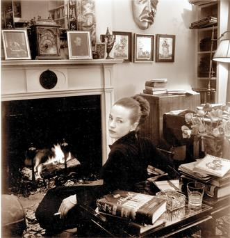 Talk of the Town: Writer Maeve Brennan about 1948, photographed by Karl Bissinger in the New York apartment of the theatre critic Thomas Quinn Curtiss.