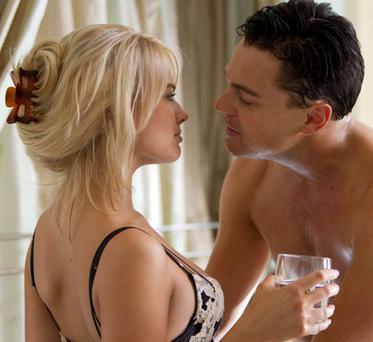 And The Living Is Easy: Leonardo DiCaprio and Margot Robbie in the big screen adaptation of John Belfort's rollicking autobiography 'The Wolf of Wall Street'