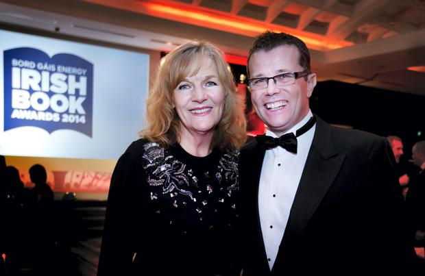Glittering Chapter: Ath the Irish Book Awards were Sunday Independent editor Anne Harris and Paul Howard. Pic. David Conachy.