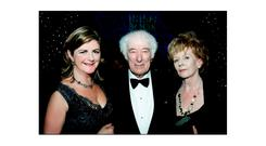 WRITE STUFF: Madeleine Keane, left, pictured in 2009 with top Irish novelist Edna O'Brien, right, as she received the Bob Hughes Lifetime Achievement Award and renowned Nobel laureate Seamus Heaney, centre, at the Irish Book Awards