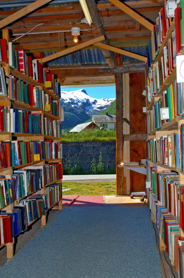 Fjærland is probably the world's most picturesque book town. Photo: Jean Blanquar