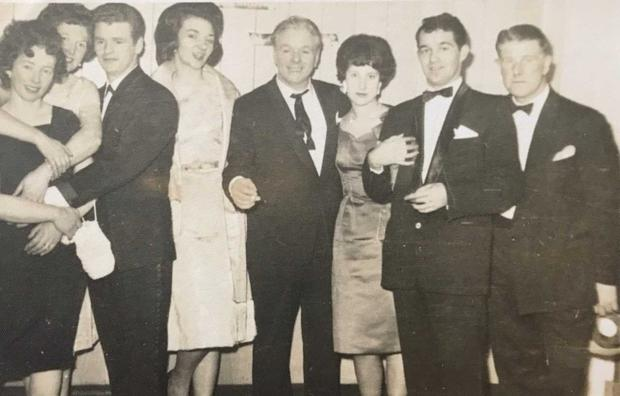 Family photo from author David Keenan circa 1970. His dad is second from the right, his mum next to him.