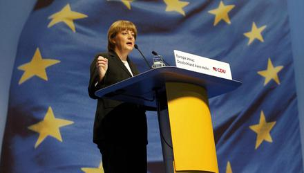 Angela Merkel, seen here in 2004, a year before she rose to become Chancellor of Germany. Picture by Thomas Lohnes