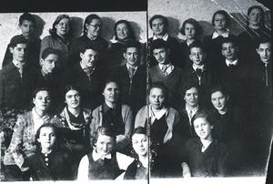 Lena Mukhina (pictured back row, third from left).