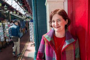 Author Emma Donoghue in George's Arcade, D2. Photo by Douglas O'Connor