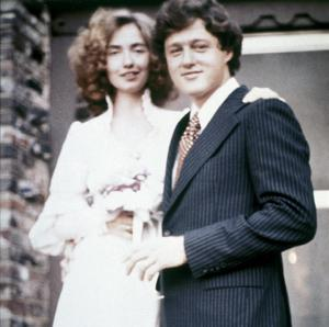 The Clintons on their wedding day