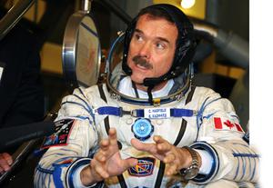 Chris Hadfield ahead of his last space mission to the ISS in 2012