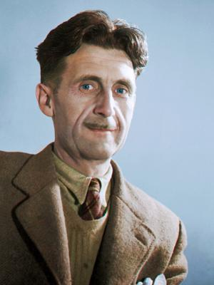 George Orwell in a photo taken around 1940