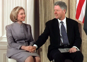 What if ..... Hilliary in the White House with Bill in 1998