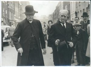 WT Cosgrave and Bishop Michael Fogarty of Killaloe at the funeral of Paschal Robinson, the first papal nuncio to the Irish Free State, August 31, 1948. (Pictures courtesy of Liam Cosgrave/RIA)