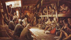Brave new world: Irish emigrants on one of the 'coffin ships' crossing the Atlantic during the Great Famine