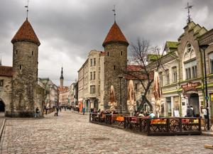 Medieval capital: Much of Sofi Oksanen's novel unfolds in the Old Town of Tallinn, Estonia, between 1941 and 1944