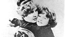 Tortured sould: Constance Wilde with one of her sons
