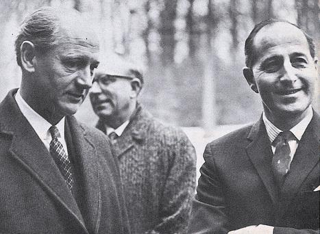 The 1967 meeting between Jack Lynch and Terence O'Neill at Stormont, with TK Whitaker in the background. Whitaker had played a major role in making it happen.
