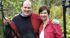 Public man of mystery: Ivan Yates with his wife Deirdre. Photo: PJ Browne