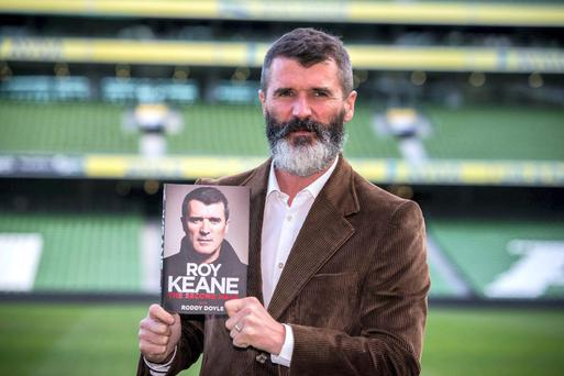 Roy Keane launching his second autobiography. Pic. Mark Condren.
