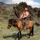 So macho: Putin on holiday in Southern Siberia in August 2009 Photo: Reuters