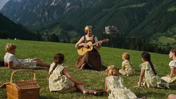 The hills are alive: A scene from the Sound of Music, starring Julie Andrews
