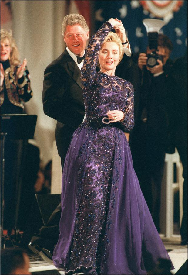 Bill and Hillary Clinton at the presidential inauguration in 1993