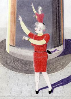 OUTSIDERS: Rory Campbell's illustrations of Mary Dunne dancing on O'Connell Street