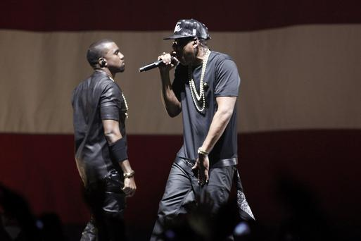 Leaked albums: US rappers Kanye West and Jay-Z
