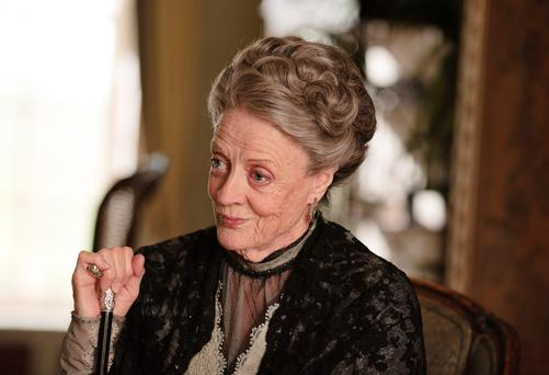 Leading lady: Maggie Smith as the formidable Dowager Countess in the drama Downton Abbey
