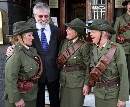 Watch Sinn Féin advance their narrative in the 1916 commemorations