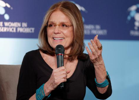 Pragmatic optimism: Steinem became a leading figure in the feminist movement, campaigning for civil and reproductive rights