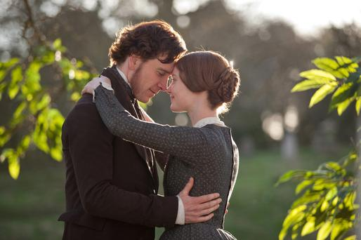 Romantic intrigue: Michael Fassbender and Mia Wasikowska in Jane Eyre