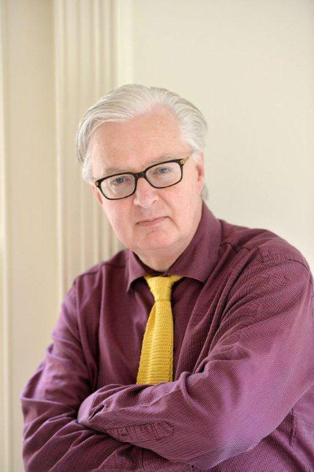 Too-clever: Aidan Mathews insists word-games take centre stage in book.