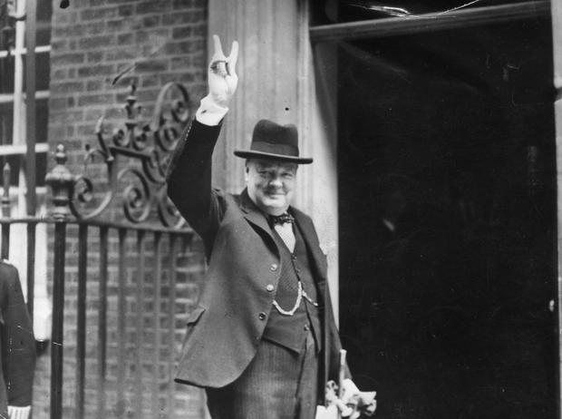 Harmony: Churchill's grand coalition was an eclectic mix (Photo by H F Davis/Getty Images)