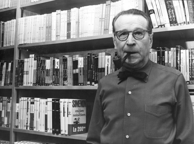 Journals: Georges Simenon, pictured here in 1973, filled the three diary-like notebooks that make up When I Was Old between 1960 and 1963 (Photo by Keystone/Getty Images)