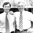 Family business: Feargal Quinn with his son Eamonn (left).